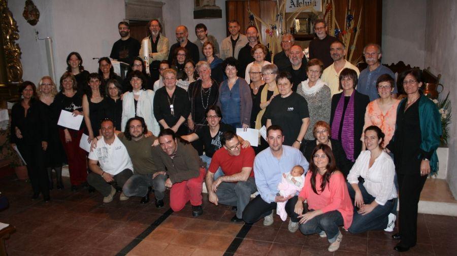 """foto de """"família"""" després de l'enregistrament"""