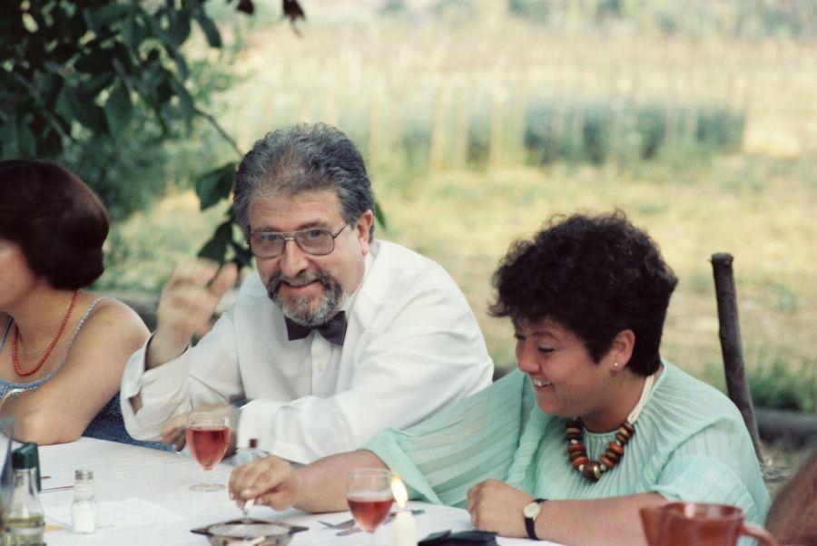 sopar final de curs 1985 Leo Massó i Regina Ferrando