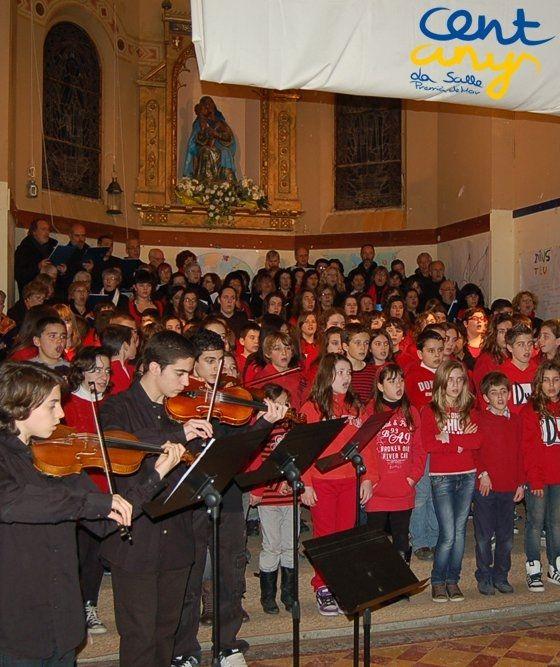 Un moment de la cantada a l'Encesa del 2011