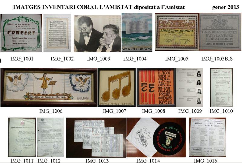 A la imatge part del material entregat per la Coral l'Amistat
