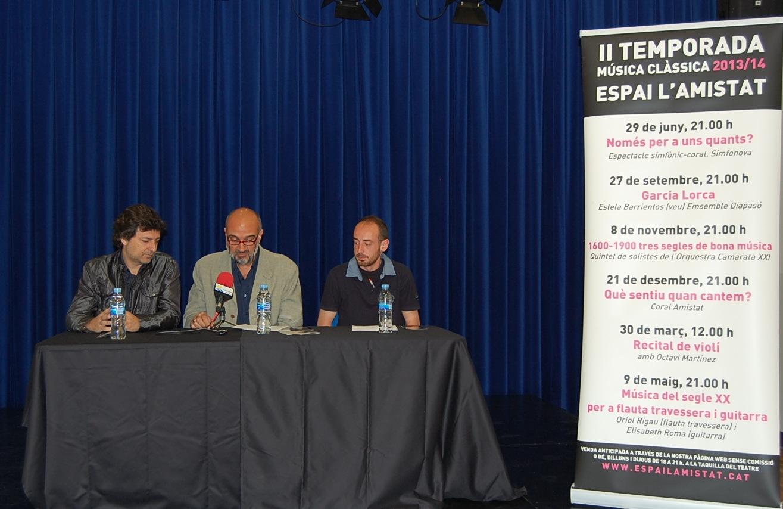 Roda de premsa de presentació de la II temporada de Música Clàssica