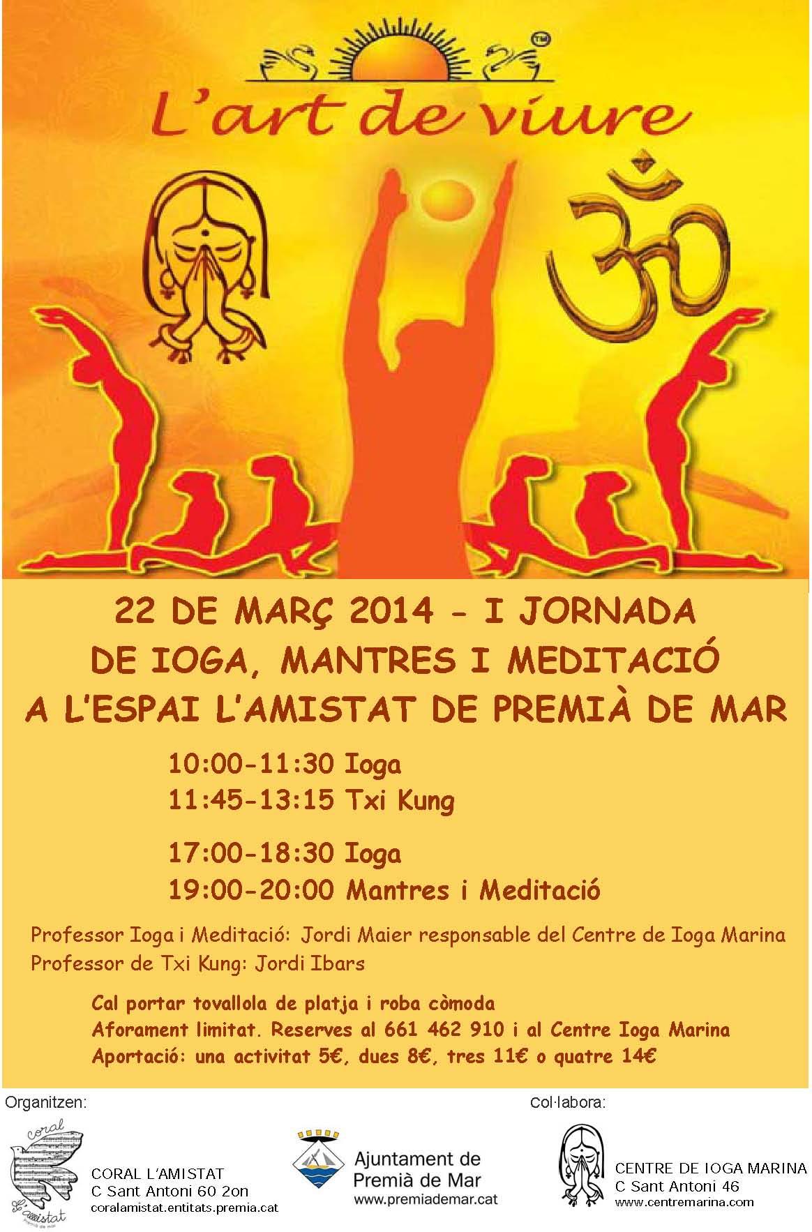 I Jornada de Ioga, Mantres i Meditació a l'Espai l'Amistat