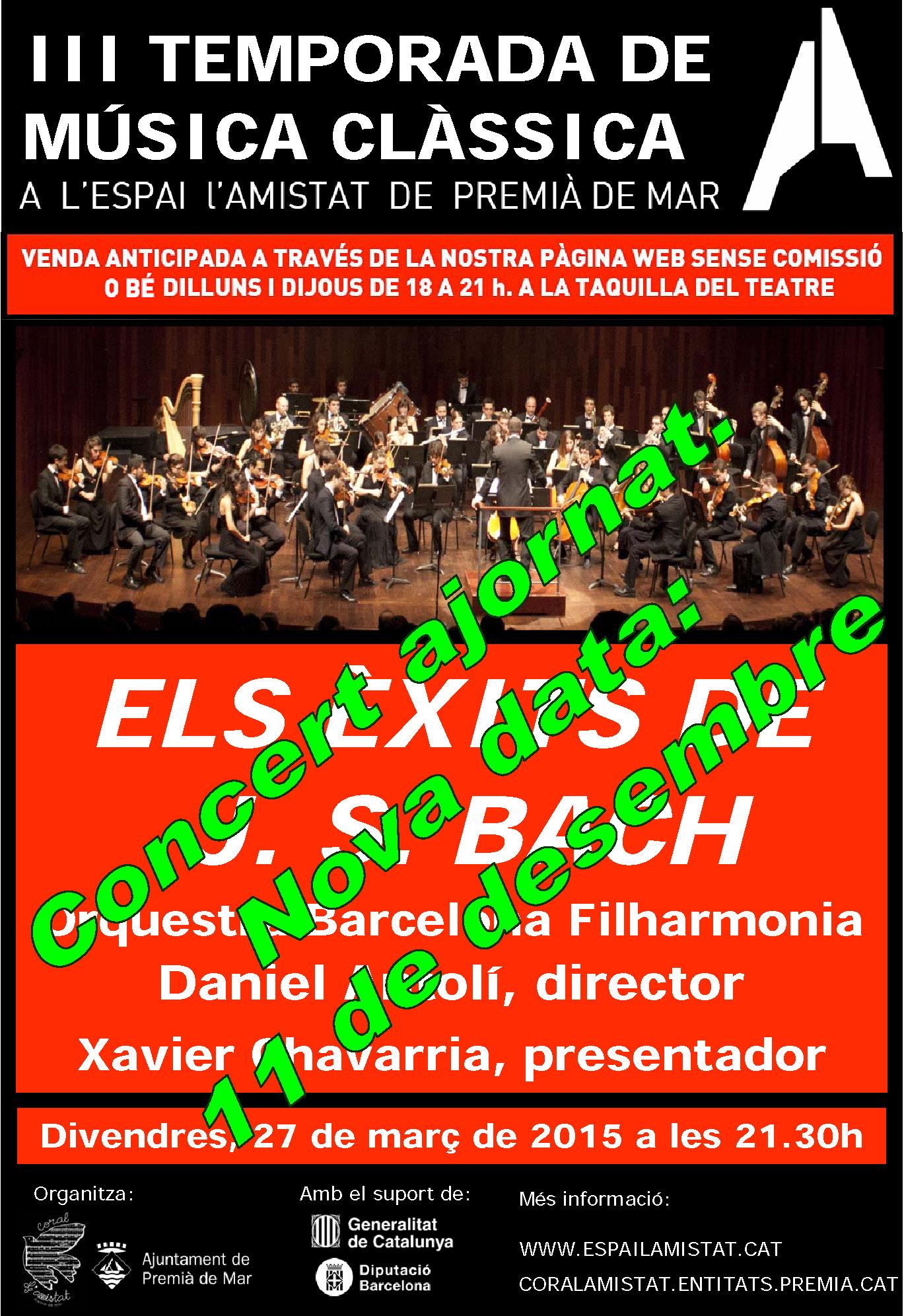 Concert de l'OBF ajornat