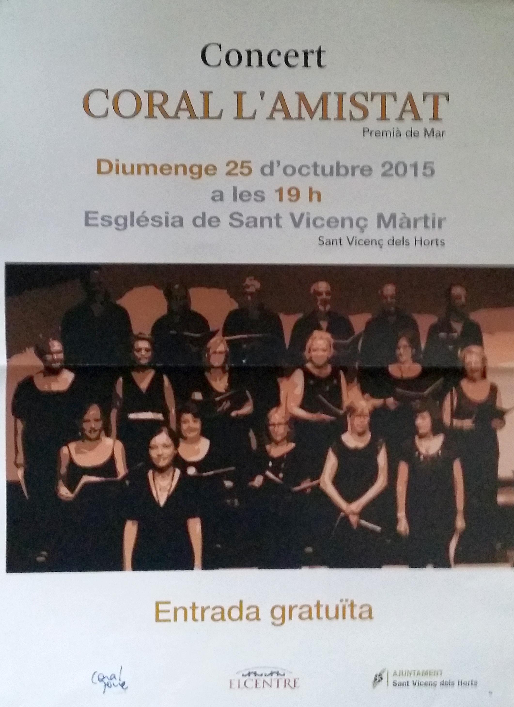 Concert de la Coral l'Amistat a St. Vicenç dels Horts