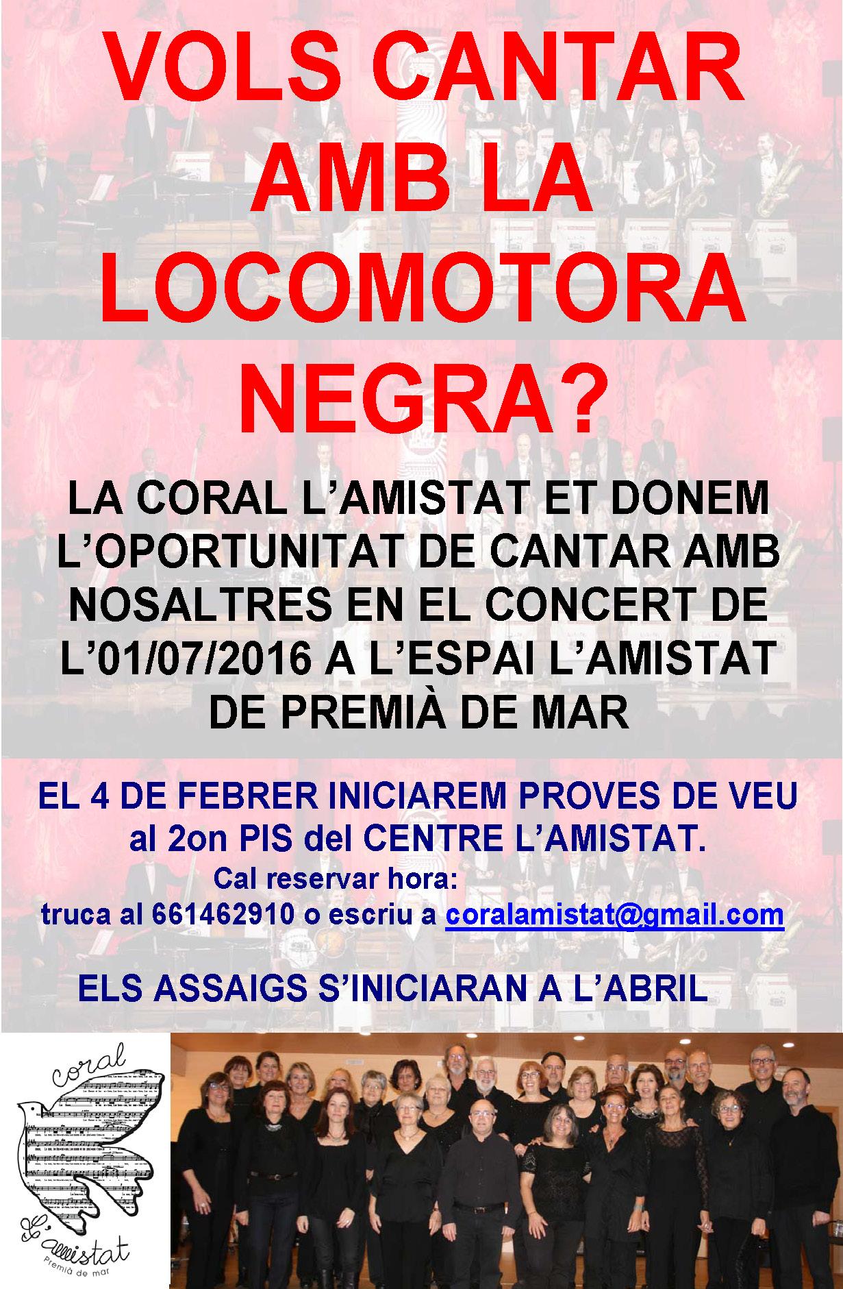 Proves de veu pel concert participatiu amb la Locomotora Negra