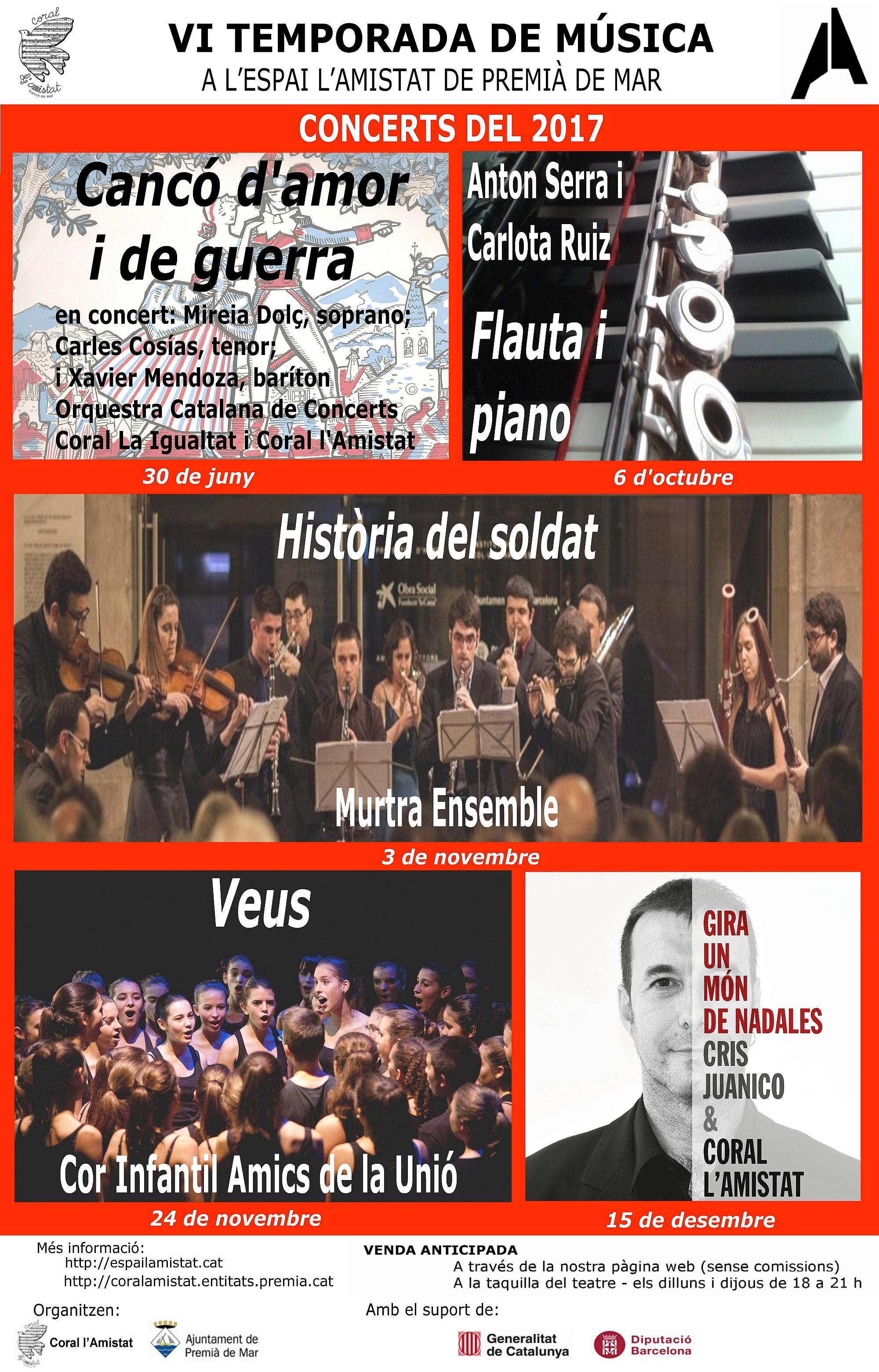 VI Temporada de Música a l'Espai l'Amistat