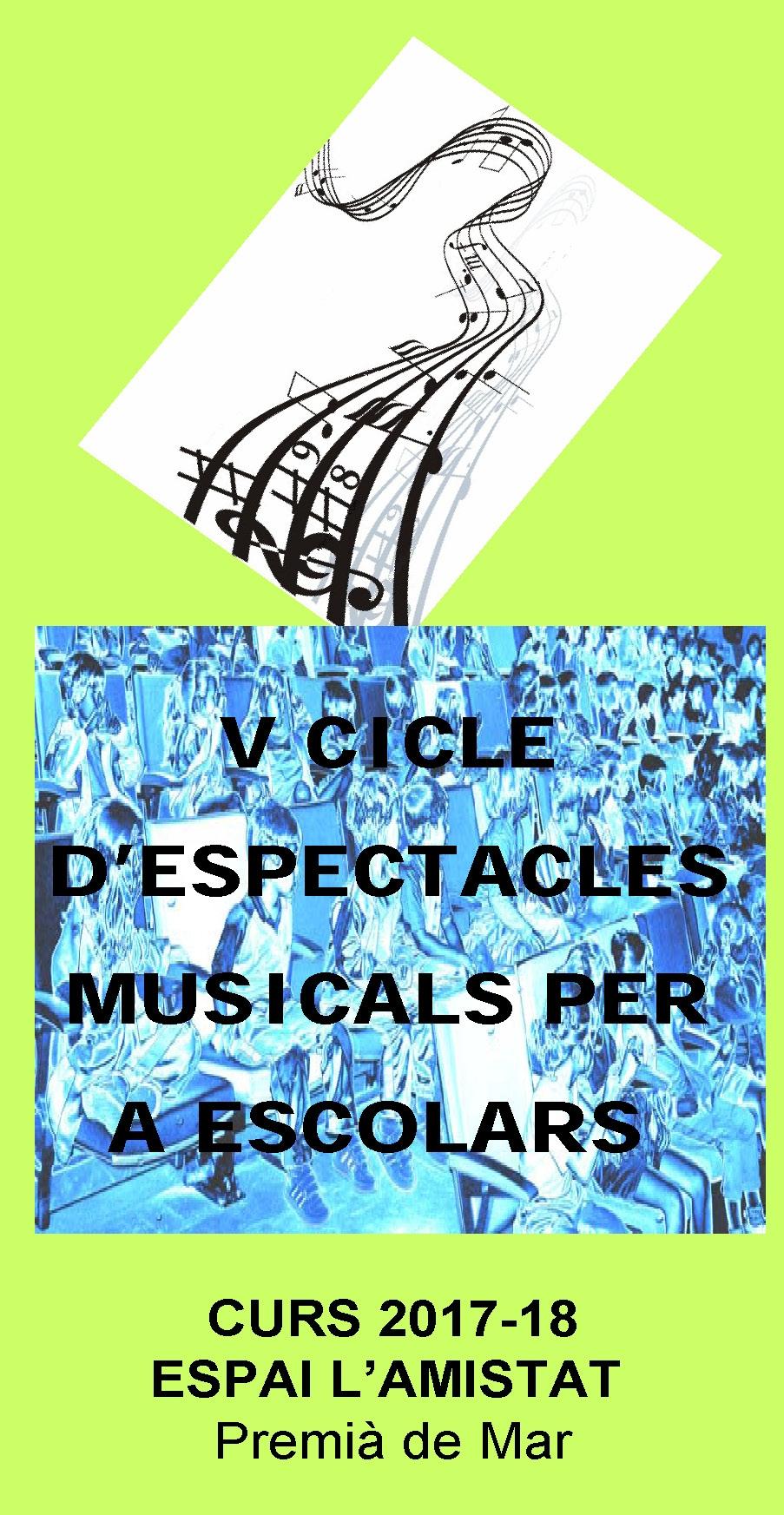V Cicle d'espectacles Musicals per a Escolars